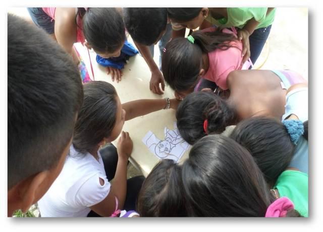 Equipo reunido en una actividad Pro-Niño extremo en San Andrés de Sotavento