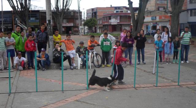 Este niño del programa con su hermana y padre demostraron que ahora en su tiempo libre se dedican a entrenar a su perro.